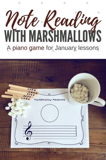 Cozy Up With A Hot Cup Of Note Reading Fun; A DIY Piano Teaching Game | Teach Piano Today