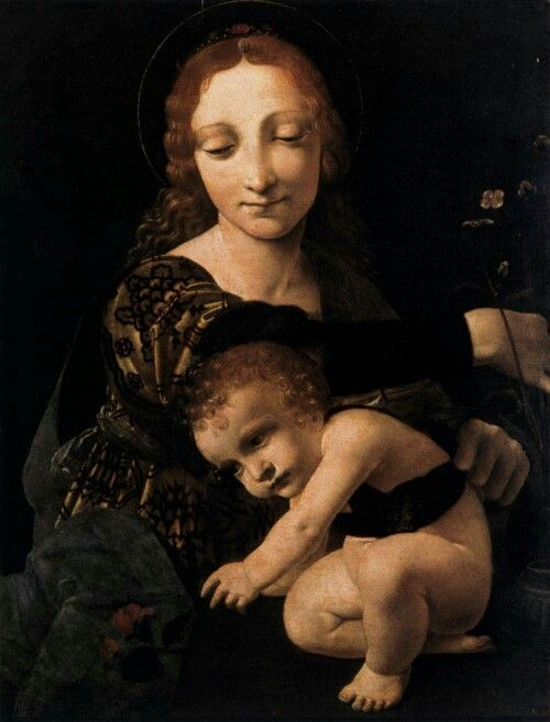 Giovanni Antonio Boltraffio, Virgin and Child with o flower vase