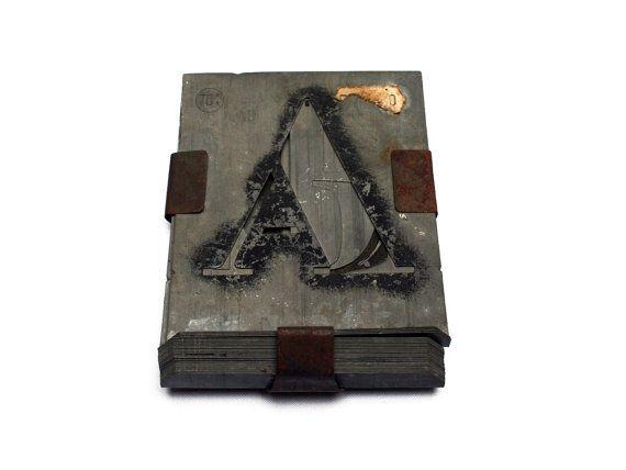 26 Vintage Zinc Stencil Letters A Thru Z Stencil Alphabet