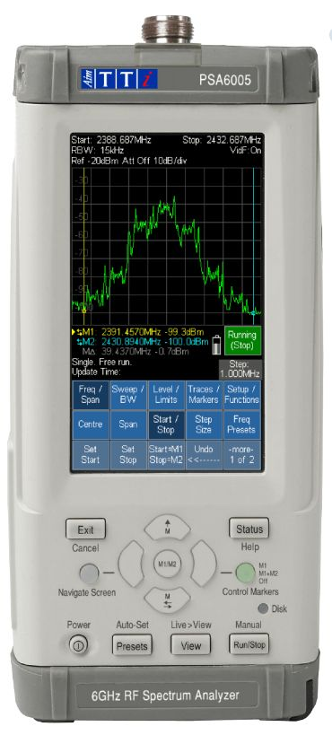 Portable RF Spectrum Analyzer PSA6005 - 10MHZ TO 6GHZ