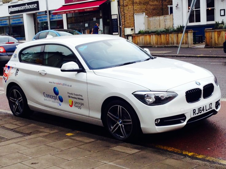 The branded BMW adorns the logos of Surbiton Hockey Club, Georgie Twigg GB Hockey, Concept and SIA, as well as our dedicated website www.theroadtoRio2016.co.uk