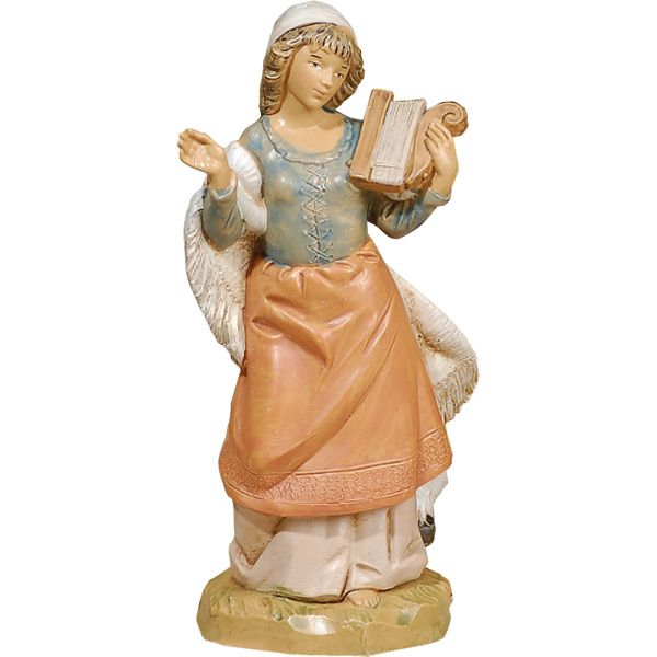 Chloe with Harp - Fontanini Musicians Figurine-Available at Leaflet Missal