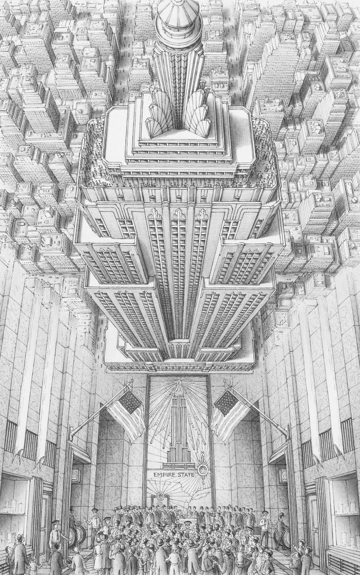 Stephen Biesty - Illustrator - Inside-out Views_Empire State Building