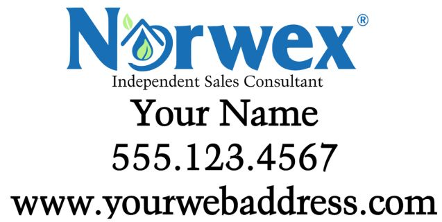 """Norwex Decal 12x24""""  Black is cut in white.  For custom orders email us at melissa@imagineitvinyl.ca"""