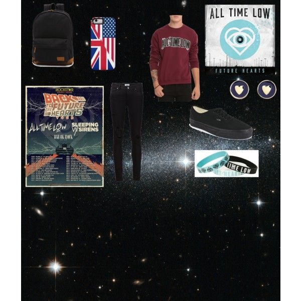All Time Low by anellis on Polyvore featuring Paige Denim, Vans and Brooks Brothers