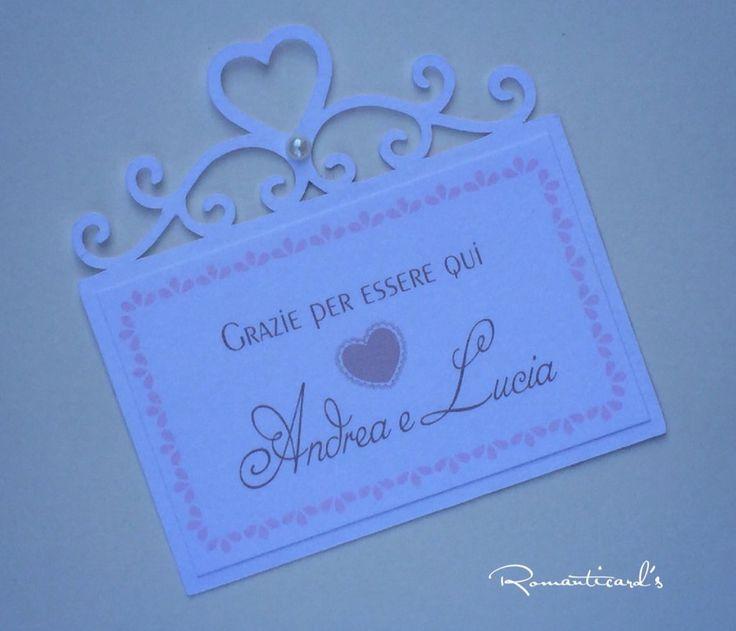 Ringraziamento / Segna posto / Etichetta per matrimonio by Romanticards, by Romanticards e Little Rose Handmade, 0,50 € su misshobby.com