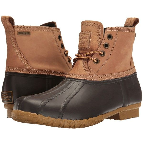 G.H. Bass & Co. Douglas (Dark Tan/Brown Pull-Up) Men's Lace-up Boots ($140) ❤ liked on Polyvore featuring men's fashion, men's shoes, men's boots, mens duck boots, mens brown leather boots, mens leather boots, mens brown shoes and mens lace up boots