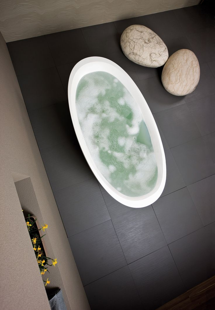 How about this for a cold winters day?    These Silkstone baths have a unique dual wall design meaning that the interior of the bath can be comfortably contoured, whilst the outside can be stylishly shaped. This also provides extra insulation to keep your bath warm for longer!