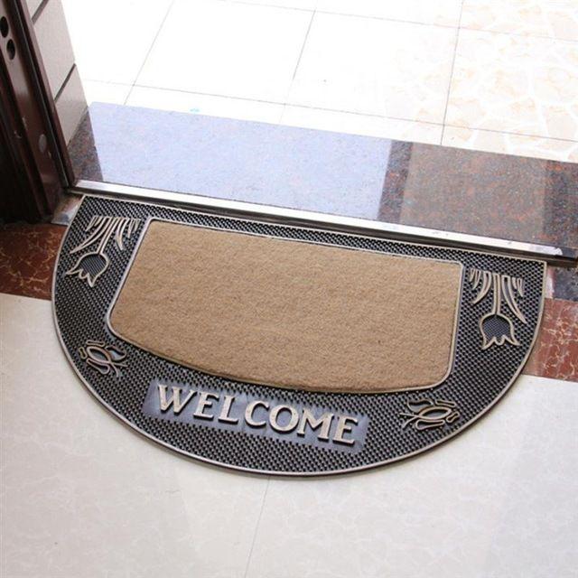 Bem-vindo tapete de entrada de entrada europeia não skid interior piso de borracha mat carpet para home office (tulipas)
