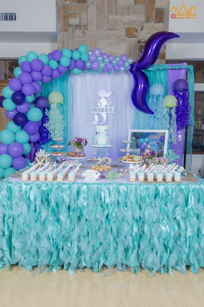 My Adorable Mermaid under the ocean Balloon bouquet    Girls Party Theme Mermaid party theme little mermaid Mermaid Party