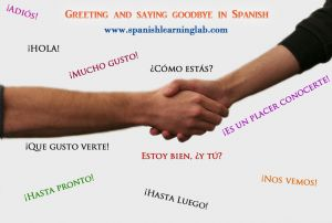 Greeting in Spanish: how to greet people in Spanish the right way. Saying goodbye in Spanish using simple expressions. Spanish Listening: Introducing a friend in Spanish Spanish Video: Greetings, introductions and farewells in Spanish