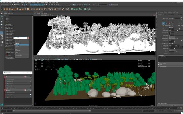 how to set the axis to world maya 2017