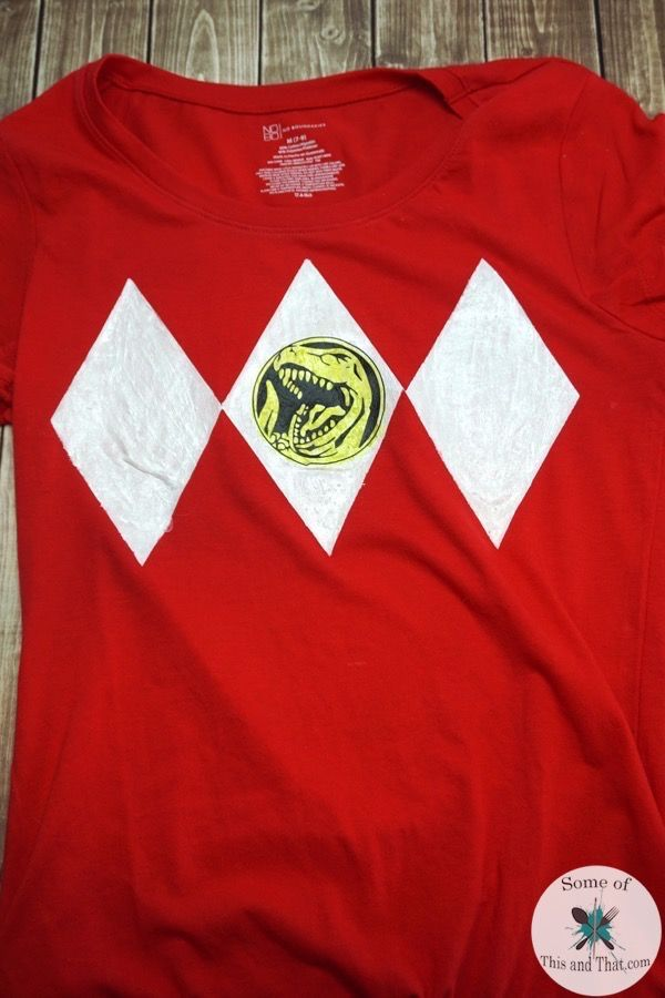 This DIY Power Rangers Shirt is made using freezer paper as the main template. It is a quick and easy craft!