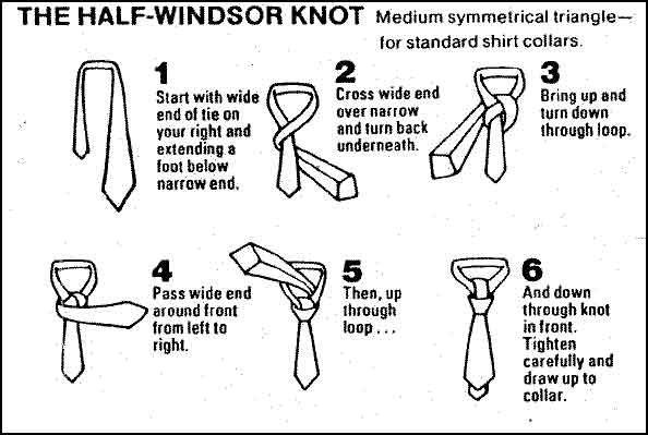 how to tie the half