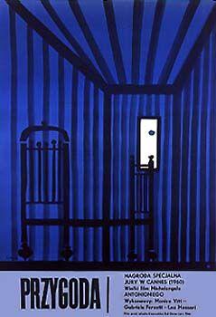 "Jan Lenica  1962 – ""L'Avventura"", Italy – France 1960. Directed by Michelangelo Antonioni."