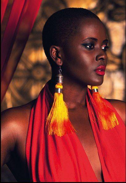 Beautiful Black Bald Woman