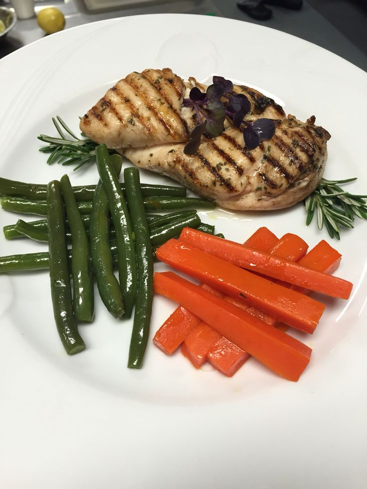 Grilled Chicken, Carrots and Green Beans