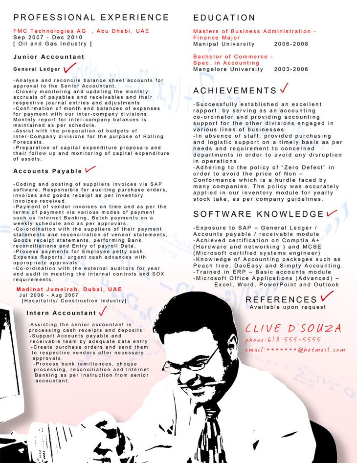 75 best cv images on Pinterest Curriculum, Resume and Resume cv - cost accountant resume sample