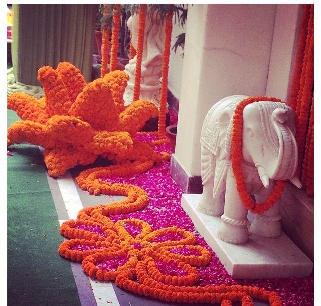 #indianwedding amazing floral decor