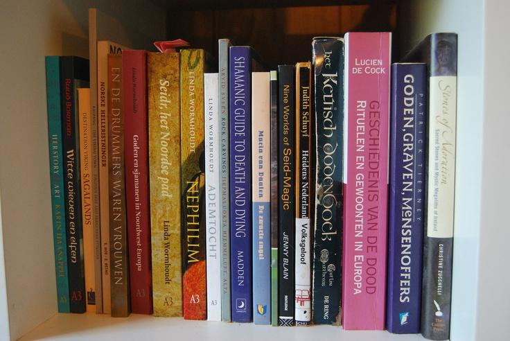 In de boekenkast van Linda Wormhoudt