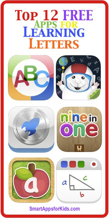 Top 12 FREE Apps for Learning Letters!  http://www.smartappsforkids.com/2012/08/top-10-free-apps-for-learning-letters.html