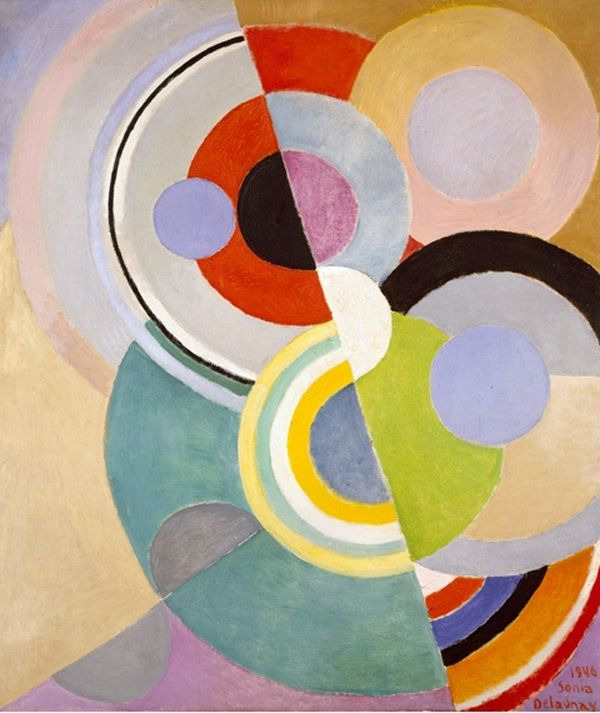 Rythme Coloré (Colored Rhythm), 1946 : By French abstract artist Sonia Delaunay