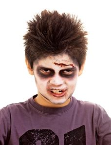Easy zombie makeup.  Thats what my little one wants to be!  Halloween Makeup For Kids..DONE