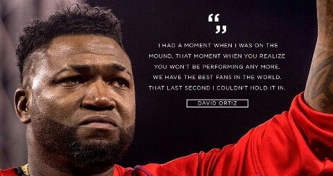 Thanks for the wonderful many years of memories... We will miss you David Ortiz {Big Papi}