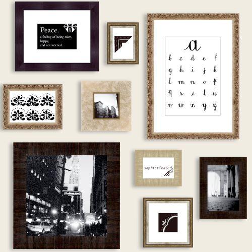【送料無料】【代引料無料】【同梱不可】9枚の額縁セット ギャラリーウォール アンティーク  #インテリア #壁面装飾 #interior #wall #decoration #gallery