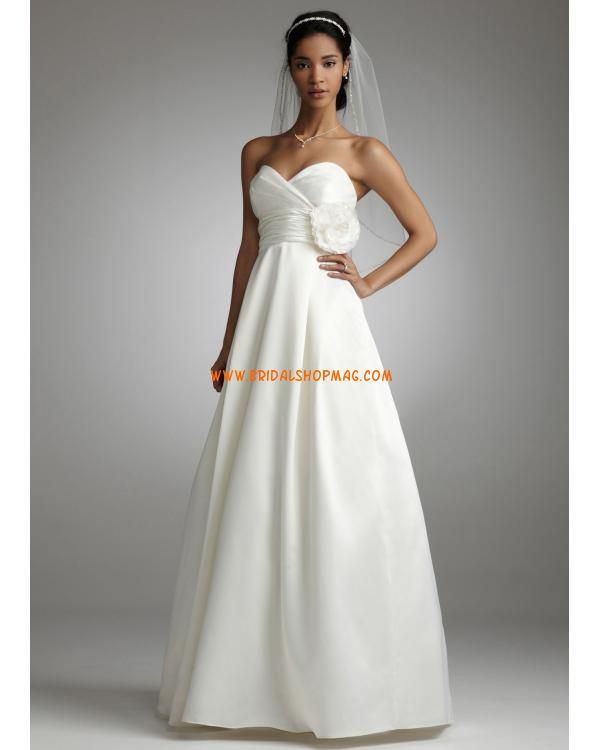 Satin A Line Gown with Empire Bodice
