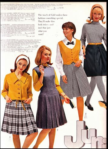 Juniors 1960s Oh so many pleated skirts to choose & we thought we were so cute ugh!