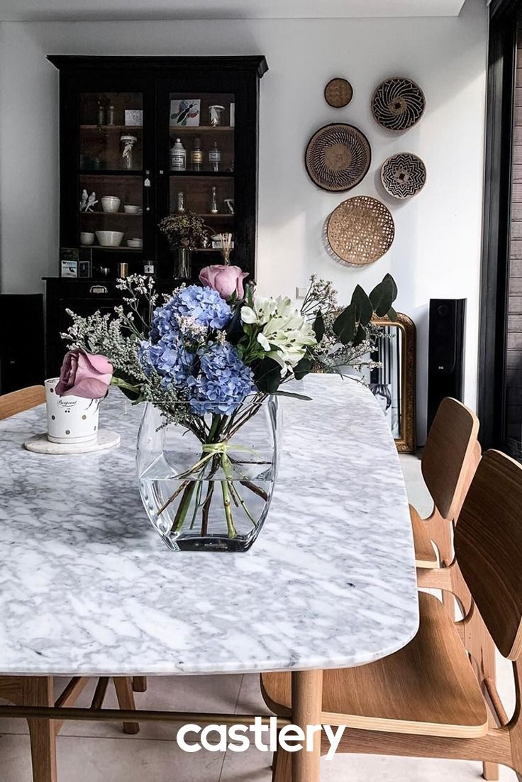 The Dining Room Is Where All The Best Communal Bonding Happens Create Your Perfect Dining Room With A Lovely Marble Dining Table That Decor Dining Room Spaces