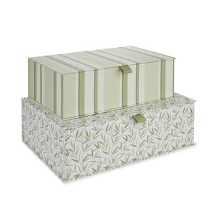 Willow Leaf Set of 2 Storage Boxes