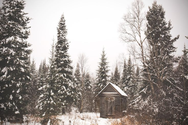 Snowed in early 1900's Hunting Cabin in Finland, MN via Connor Charles Photo [OC] [3000 x 2000] - Modern and Vintage Cabin Decorating Ideas, Small Cabin Designs, Cabins Interior and Decor Inspiration