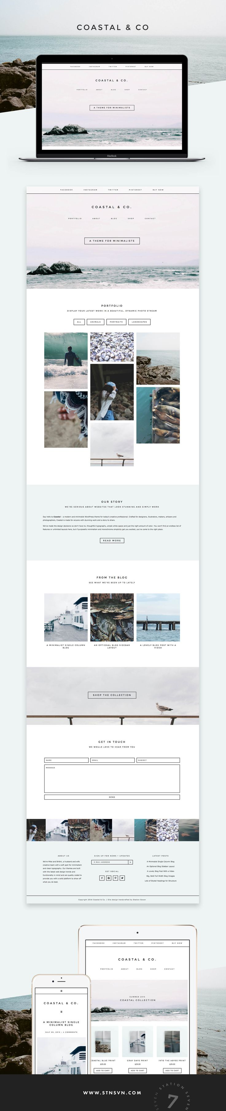Coastal - Portfolio and WooCommerce WordPress Theme
