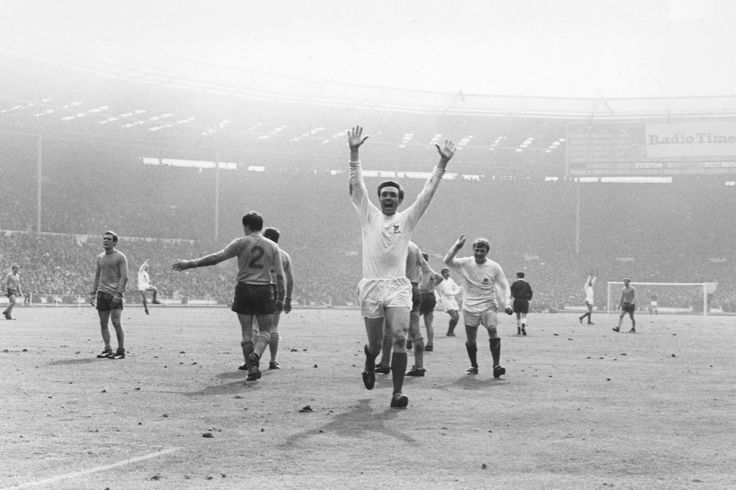 Jeff Astle celebrates scoring the winning goal in the 1-0 FA Cup Final win against Everton at Wembley.