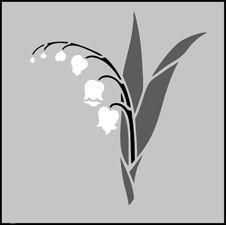 Lily of The Valley Solo stencil design.
