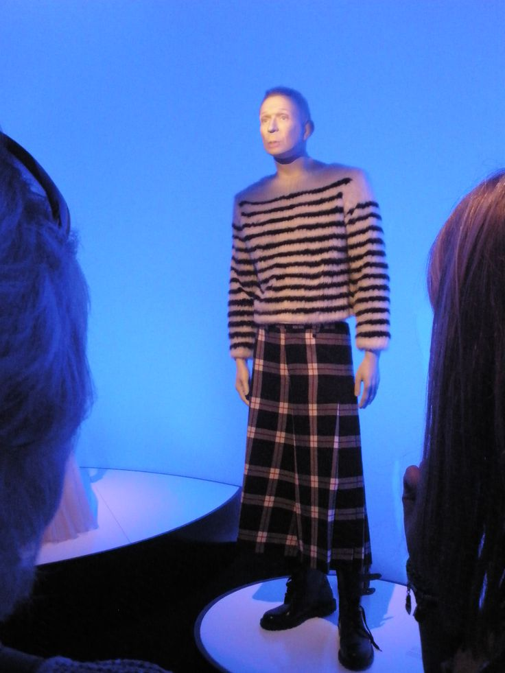 Jean-Paul Gaultier, Barbican, fashion, Breton, stripes, plaid, kilt