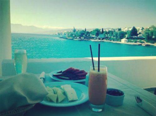 Breakfast with a view at Minos Beach Art Hotel  Photo credits @Manolis Giakoumakis