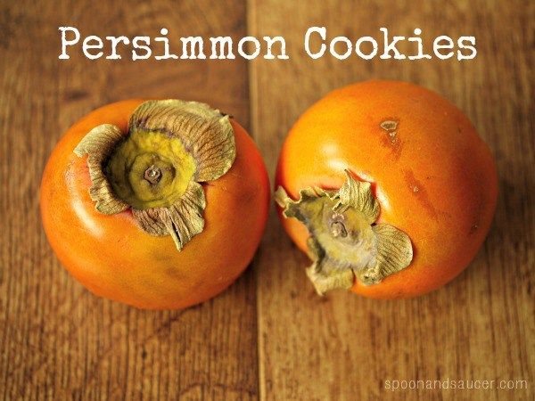 Persimmon. It's a fruit that's so under appreciated. Persimmon cookies? It's not the holidays without them.