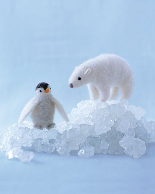 Needle-Felted Polar Bear   Step-by-Step   DIY Craft How To's and Instructions  Martha Stewart