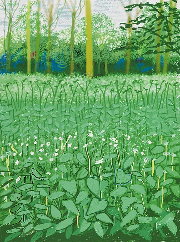 The Arrival of Spring in Woldgate, East Yorkshire - David Hockney