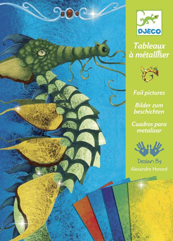 Aranyozd be a sárkányt!- kreatív fémfóliázós készlet (Djeco) | Pandatanoda.hu Játék webáruház