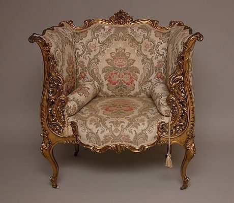 1180 Fabulous Giltwood Heavily Carved French Throne Ch Lot Royal FurnitureWood
