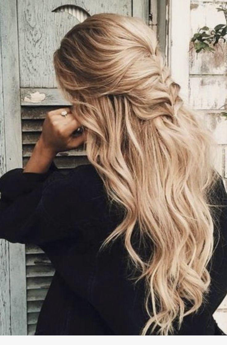 Hair Hairstyle Hair Style Hairstyles Hair Styles Blonde Long Blonde Hair Half Up Half Down Flowy Hair Curly H Hair Styles Long Hair Styles Hairstyle