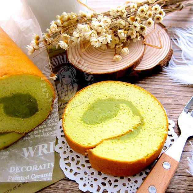 Pandan Soufflé Swiss Roll ~ highly recommended