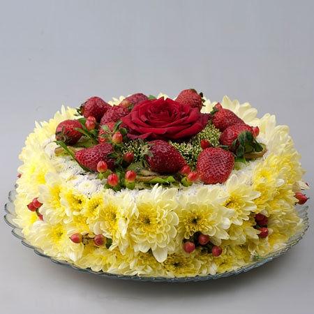Gâteau floreale #food #cibo #edibleflowers