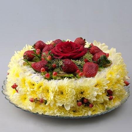 Chrysanthemum flower cake