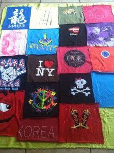 No -Sew DIY T-shirt Blanket Tutorial from Thrift Town | Thrift Town