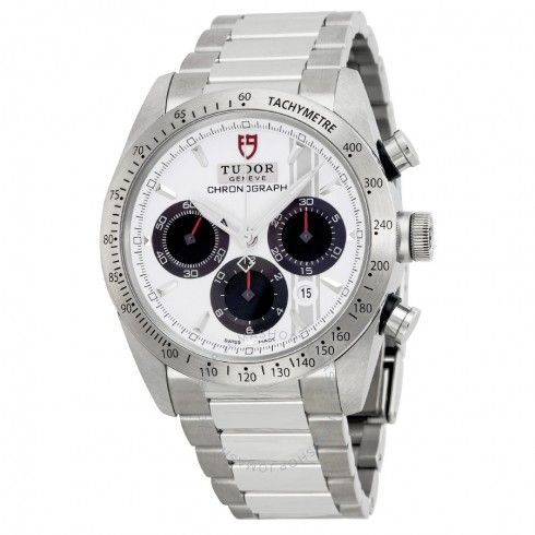 Tudor Fastrider Chronograph White Dial Stainless Steel Men's Watch 42000-WSSS